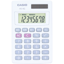 Casio HS-4GS Basic Handheld Calculator - White 1Pk BP