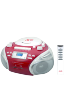 Avid Products BB-992 Boombox White/Red Box USB/SD Slot