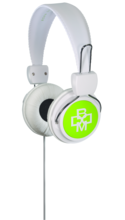 BOOM Renegade On-Ear Headphones White/Green BP