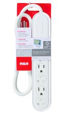 RCA Surge Protector - White 3ft BP 6-Outlet