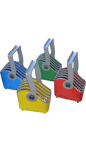 LocknCharge Small 5-Slot Plastic Device Basket Set of 4 Red/Blue/Green/Yellow