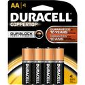 Duracell CopperTop Alkaline Batteries AA 4Pk BP