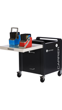 LocknCharge Carrier 30 Cart with Sync & Charge Tray - SMALL Baskets Includes 6 - 5 slot baskets - Small