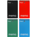 Mead Memo Wirebound Notebook - Asst 3x5in 60Sht Bulk 1 Sub-College Ruled-Top Bound