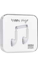 Happy Plugs Earbuds with Mic White BP