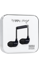Happy Plugs In-Ear Earbuds with Mic Black BP