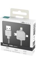 Allocacoc Power USB Cable White 2.6ft BP USB - Lightning/Micro USB/Macro USB