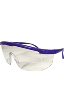 DR Instruments Wrap Around Safety Glasses Blue Adjustable 1Pk BP ANSI Approved