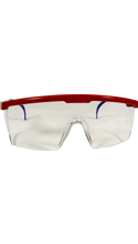 DR Instruments Wrap Around Safety Glasses - Red/White/Blue Adjustable 1Pk BP ANSI Approved