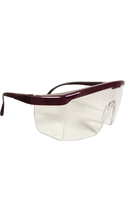 DR Instruments Wrap Around Safety Glasses Burgundy Adjustable 1Pk BP ANSI Approved