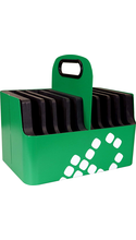 LocknCharge iPad Aluminum Carry Basket - Green