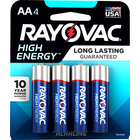 Rayovac High Energy Premium Alkaline Batteries - AA 4Pk BP
