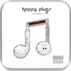Happy Plugs Earbuds Plus with Mic - Pattern BP White Marble