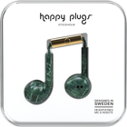 Happy Plugs Earbuds Plus with Mic - Pattern BP Green Marble