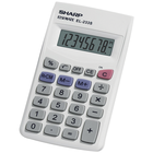 Sharp EL-233SB Basic Calculator - White 1Pk BP