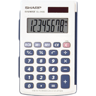 Sharp EL-243SB Basic Twin Power Calculator - White 1Pk BP