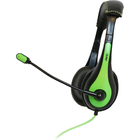 Avid Products AE-36 On-Ear Headphones with Boom Mic - Black-Green Box