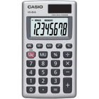 Casio HS8V Mini Calculator - Silver 1Pk BP