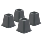 Honey-Can-Do Bed Risers - Black 5.25in Bulk Square