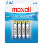 Maxell Alkaline Batteries AAA 4Pk BP