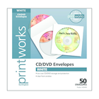 Printworks CD Envelope White 4.8x4.8 50Ct Box