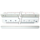 Westcott Engineer's Scholastic Scale - White 12in 1Pk BP