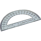 Plastic Protractor Open Center - Clear 6in Bulk Open Center