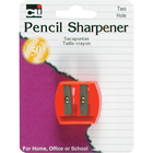 Charles Leonard Pencil Sharpener - Asst 1.25in 1Pk BP 2-Hole