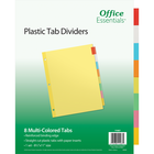 Office Essentials Insertable Economy Divider - Buff w-Multi Tabs 8.5x11in Bulk 8 Tab