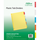 Office Essentials Insertable Economy Divider - Buff w-Multi Tabs 8.5x11in Bulk 5 Tab