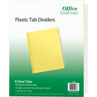 Office Essentials Insertable Economy Divider - Buff w-Clear Tabs 8.5x11in Bulk 8 Tab