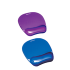 Fellowes Crystal Gel Mouse Pad with Wrist Rest - Blue 8x9.25in BP Crystal Gel with Wrist Rest