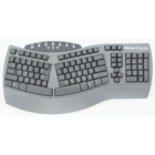 Fellowes Microban Ergonomic Keyboard - Black 10.6x20.5x2.6in Box