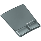 Fellowes Microban Gel Mousepad with Wrist Rest - Black 10x6.75in BP