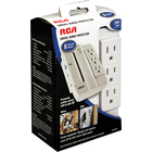 RCA Swivel Surge Protector - White 2.5in BP 6-Outlet