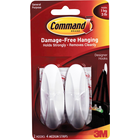 Command Adhesive Hook - White Medium 2Pk BP Designer