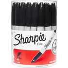 Sharpie Permanent Marker Canister Display Black Fine 36Ct Canister Display Barcoded