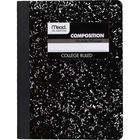 Mead Square Deal Composition Notebook - Black Marble 9.75x7.5in 100Sht Bulk 1 Subject-College Ruled