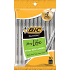 BIC Round Stic Xtra Life Ballpoint Pen - Black 1.0mm 10Pk BP
