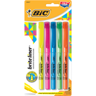 BIC Brite Liner Pen Style Highlighter Asst Chisel 5Pk BP