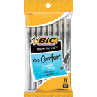 BIC Round Stic Grip Xtra Comfort Ballpoint Pen Black 1.2mm 8Pk BP