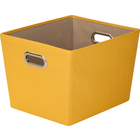 Honey-Can-Do Polyester Storage Bin - Yellow 15.75x13x10.8in Bulk