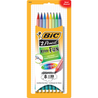 BIC Xtra Fun Stripes #2 Woodcase Pencil - Black #2 8Pk BP