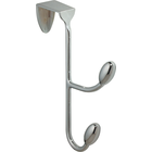InterDesign Orbinni Over-the-Door Hook Chrome 5x7.5x1in 1Pk BP 2 Hook