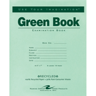 Roaring Spring Green Examination Book - Green 7x8.5in 8Sht Bulk Wide Ruled