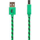 EverGreen USB 2.0 Cable Printer Cable Cotton Braided & PVC - Green-Black 480Mbps-10ft BP USB 2.0 A - USB 2.0 B
