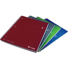 Dot Matrix Wirebound Notebook - Asst 8.5x11in 80Sht Bulk 1 Subject-College Ruled-4Pk-#5-8