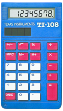 TI-108 Basic Solar Calculator