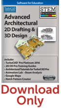 IMSI Advanced Architectural 2D Drafting & 3D Design 2017 STEM Solution