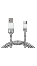 iHome Nylon USB Type-C to USB A 2.0 Charge & Sync Cable